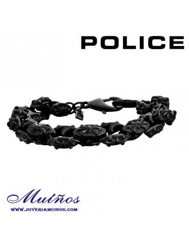 Pulsera Police hombre acero flor de lis.