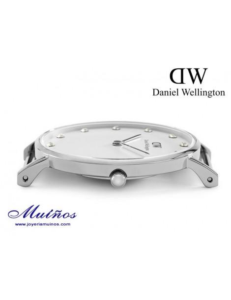 Reloj caja plateada Classy Daniel Wellington 34mm
