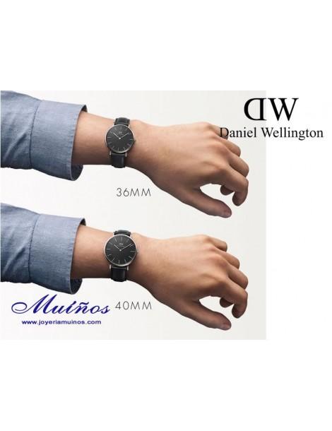 Reloj Classic Black Cornwall 40mm hombre Daniel Wellington