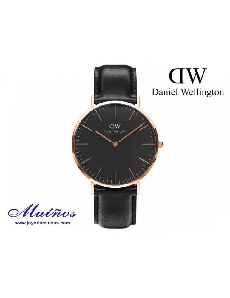 Reloj Classic Black Cornwall 40mm hombre Daniel Wellington