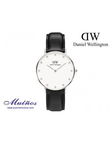 Reloj plateado Classy Sheffield Daniel Wellington 34mm