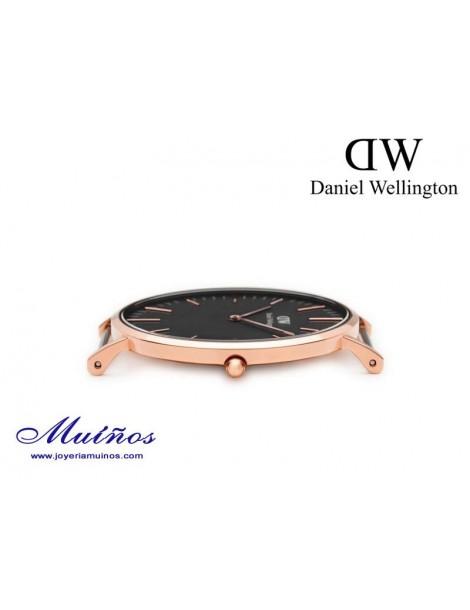 Reloj Classic Black 40mm hombre Daniel Wellington