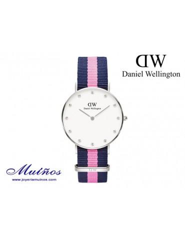 Reloj plateado Classy Winchester Daniel Wellington 34mm
