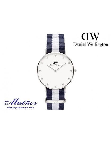 Reloj plateado Classy Glasgow Daniel Wellington 34mm