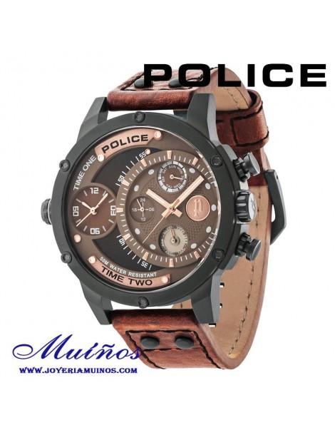 Relojes Police dual hombre correa piel