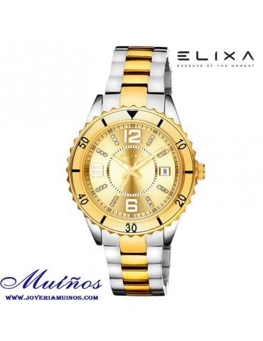 Reloj Elixa Beauty mujer correa milanesa