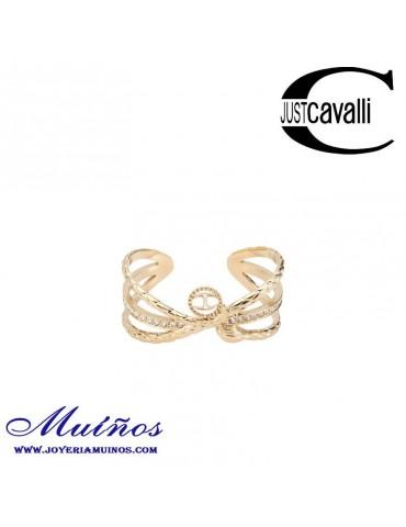 Pulsera mujer Just Cavalli rigida serpiente con cabeza de circonitas