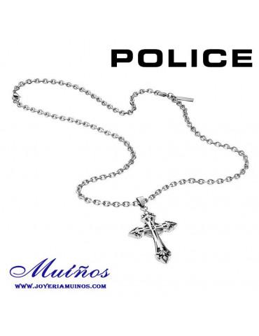Colgante Police cruz acero hombre