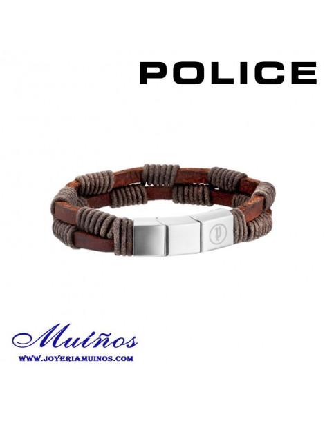 Pulsera Police cuero negro
