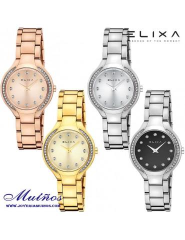 Reloj Elixa Beauty acero circonitas