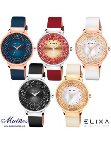 Reloj Elixa Beauty mujer brazalete fino acero