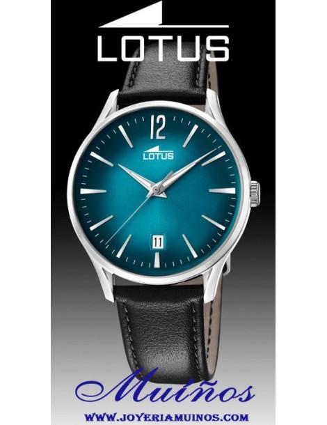Reloj Lotus Revival hombre caja acero y correa piel