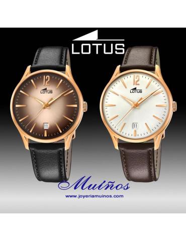 Reloj Lotus Revival hombre caja y correa piel