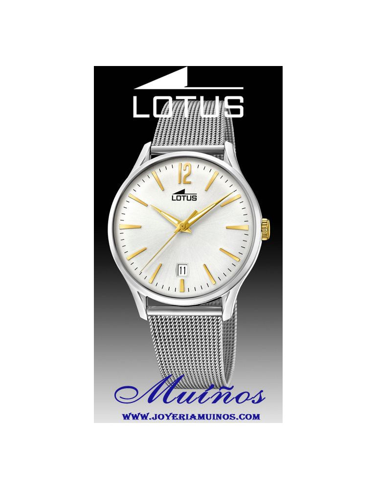 Reloj Lotus Revival hombre correa milanesa