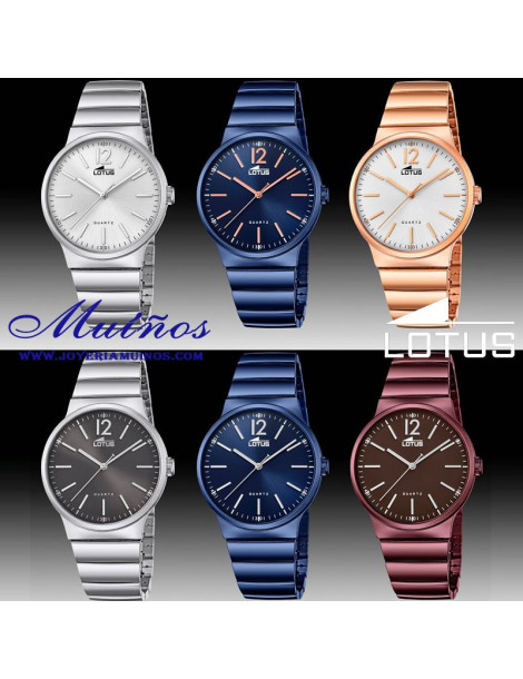 Reloj Lotus The Couple Parejas acero colores