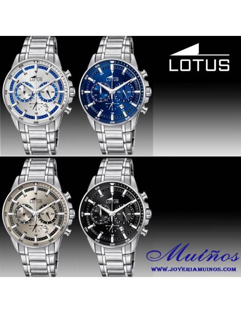 Reloj Chrono Lotus acero chico cronógrafo