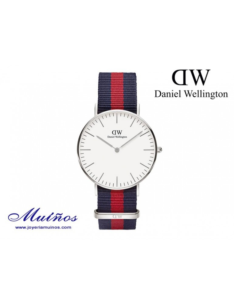 Reloj plateado Classic Oxford Daniel Wellington 36mm