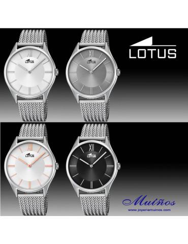Reloj Lotus minimalist correa milanesa