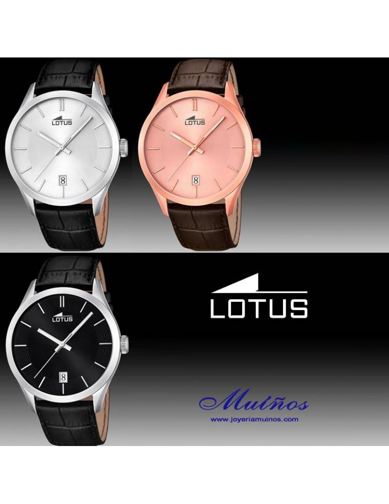 31b55eac6bf8 Relojes con correa de Cuero para Hombre Lotus