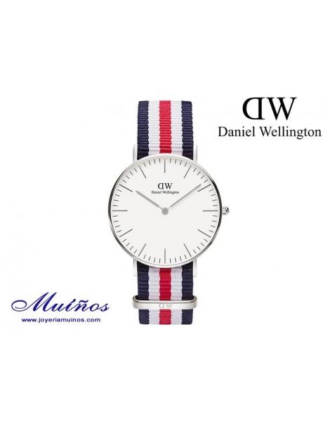 Reloj plateado Classic Canterbury Daniel Wellington 36mm