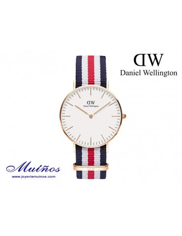 Reloj oro rosa Classic Canterbury Daniel Wellington 36mm