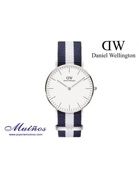 Reloj plateado Classic Glasgow Daniel Wellington 36mm