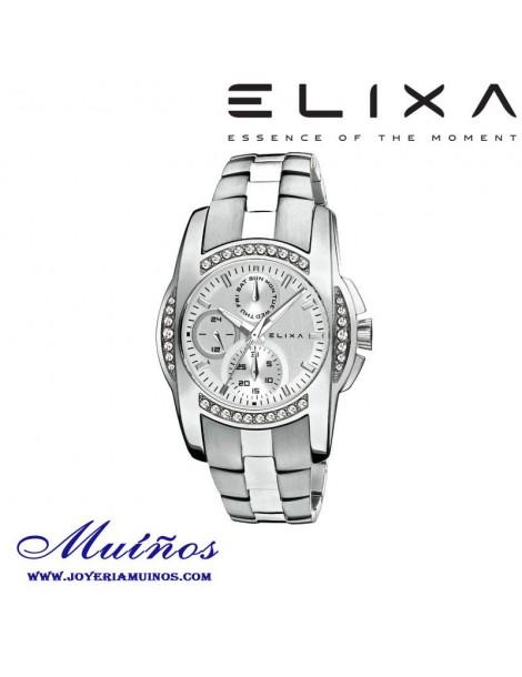 Reloj Elixa Enjoy mujer multifunción y circonitas