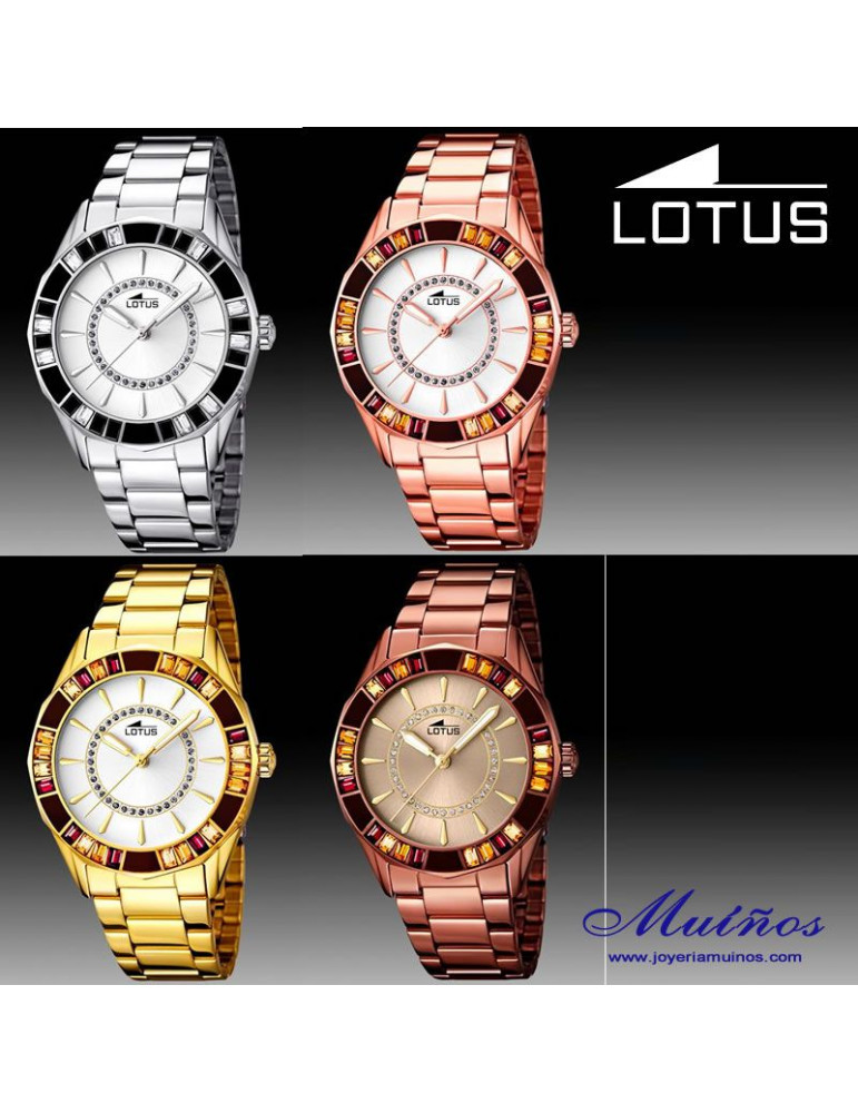 Reloj Lotus Trendy con cristales
