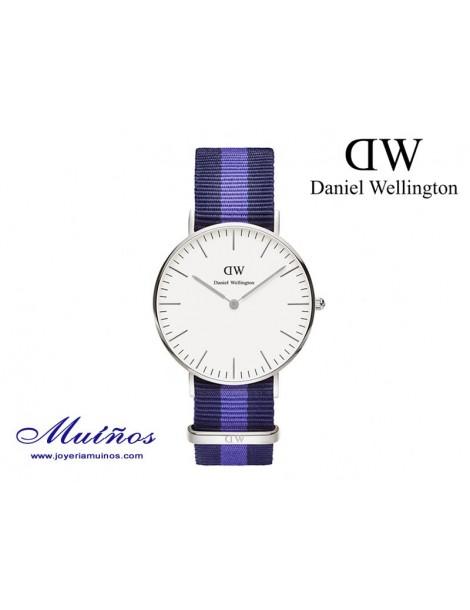 Reloj plateado Classic Swansea Daniel Wellington 36mm
