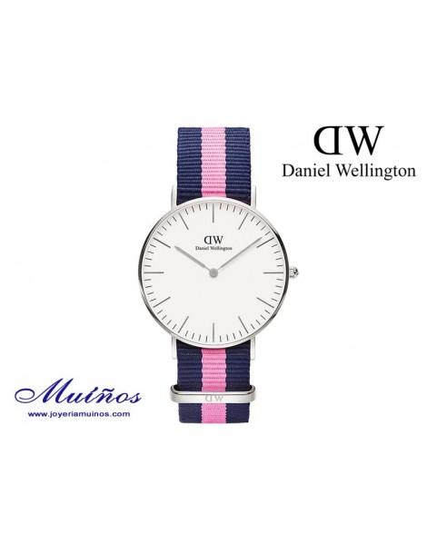 Reloj plateado Classic Winchester Daniel Wellington 36mm