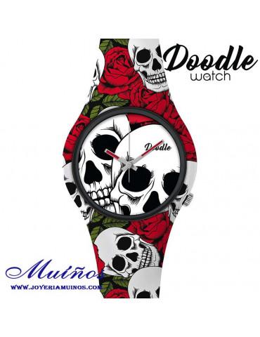 Reloj Tatuaje CALAVERAS ROSAS DOODLE