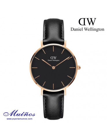 Reloj Classic Petite Sheffield Black 28mm o 32mm mujer Daniel Wellington