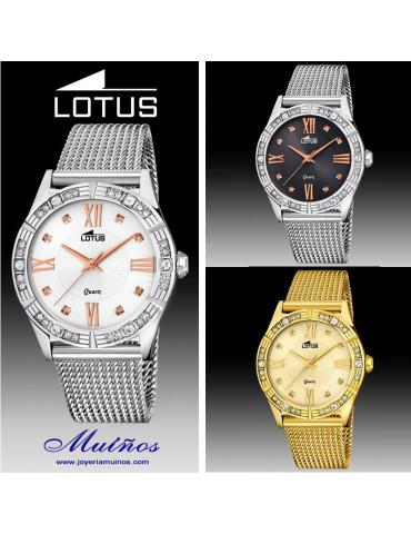 Relojes Lotus Trendy con ciconitas y números Romanos