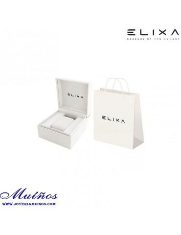 Reloj Elixa Beauty acero milanesa bicolor