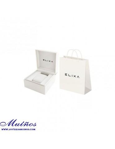 Collar Gargantilla Elixa mujer acero 3 tonos de color.