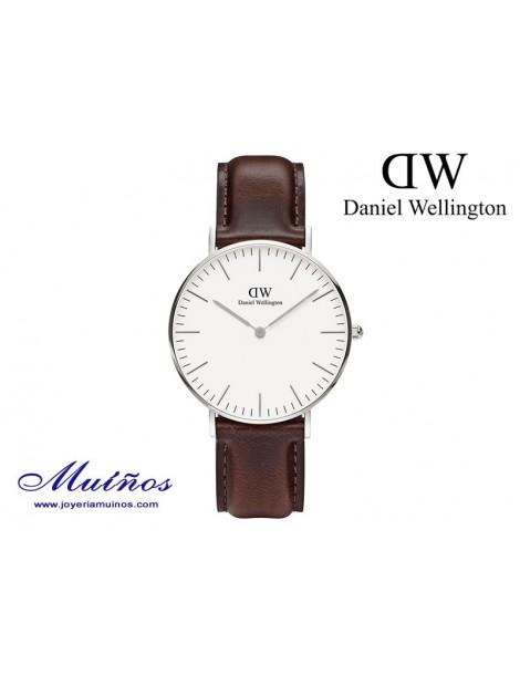 Reloj plateado Classic Bristol 36mm mujer Daniel Wellington