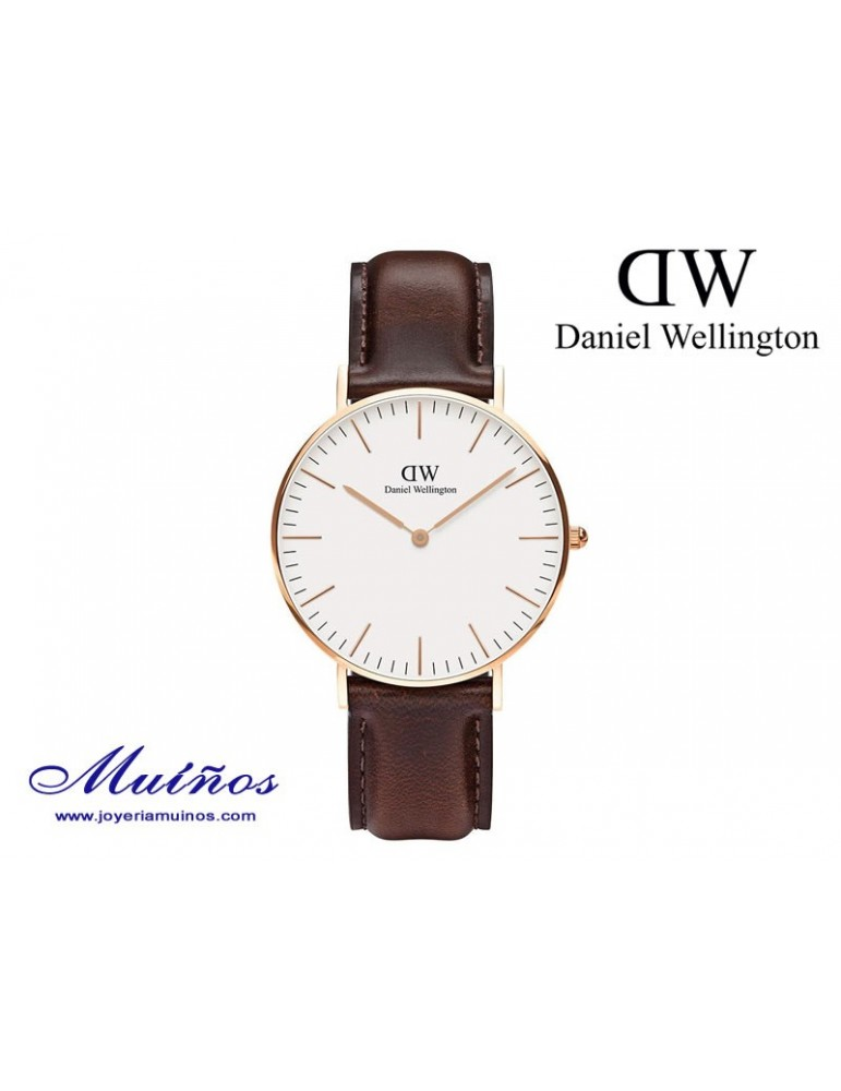 Reloj oro rosa Classic Bristol 36mm mujer Daniel Wellington