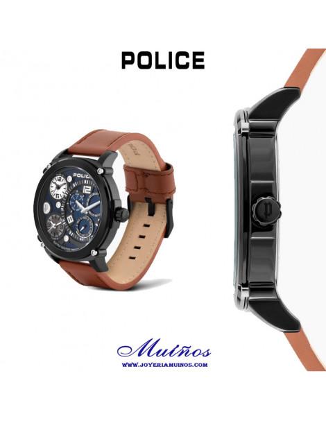 reloje police titan azul