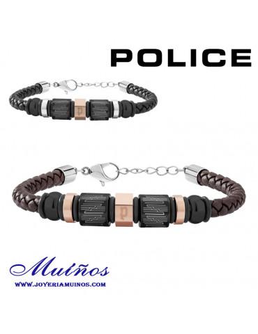 Pulseras Police Kaibab cuero