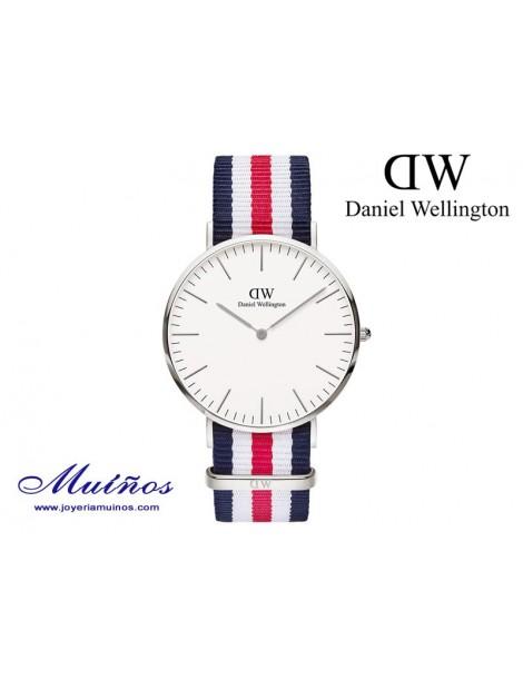 Reloj Classic Canterbury plateado Daniel Wellington 40mm