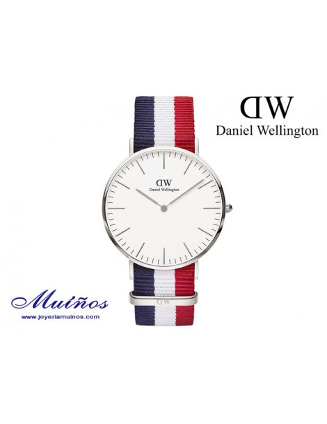 Reloj Classic Cambridge plateado Daniel Wellington 40mm