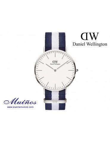 Reloj Classic Glasgow plateado Daniel Wellington 40mm