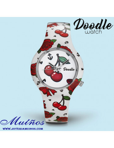 Reloj tatuaje mujer 35mm Cerezas