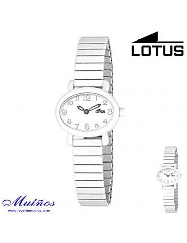 Reloj Lotus niña blanco extensible