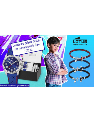 Pulsera de regalo con la compra de tu reloj lotus
