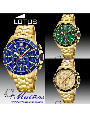 reloj lotus excellent crono dorado