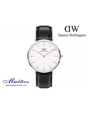 Reloj Classic Sheffield plateado Daniel Wellington 40mm