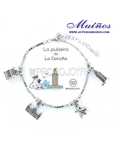 Pulsera de A Coruña en plata promojoya joyeria muiños