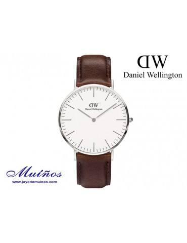 Reloj Classic Bristol plateado Daniel Wellington 40mm