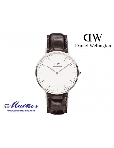 Reloj Classic York plateado Daniel Wellington 40mm